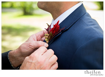 Red Groom's Boutonniere l Theilen Photo l @takethecakevent