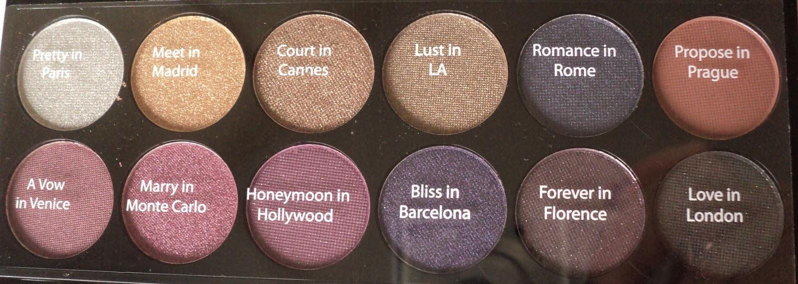 The make up hotspot sleek vintage romance palette review swatches en look for Wat zijn de koele kleuren