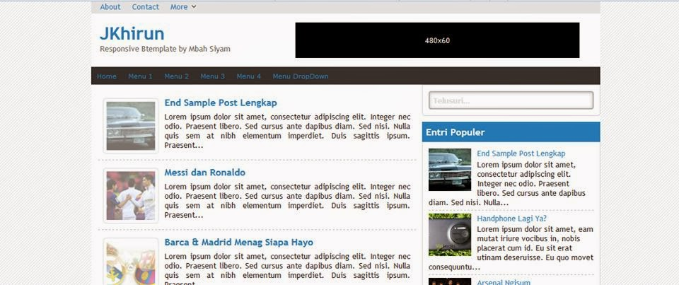 Download Template JKhirun Gratis