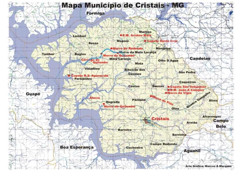 Mapa de Cristais