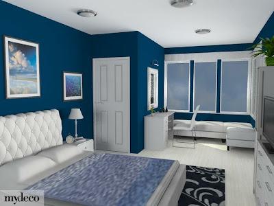 Fotos de dormitorios azules blue bedrooms - Colores azules para habitaciones ...
