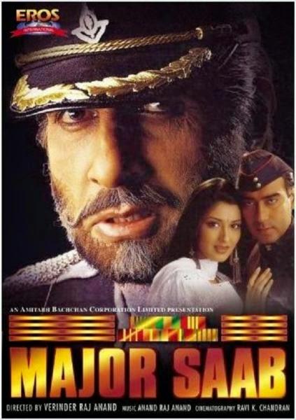 Major Saab 1998 Hindi DVDRip 480p 400mb