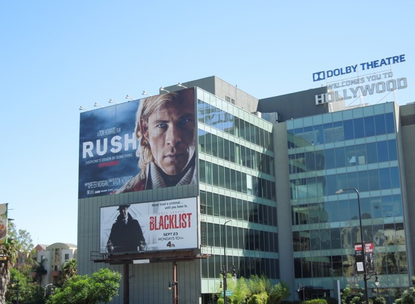 Giant Rush movie billboard Hollywood