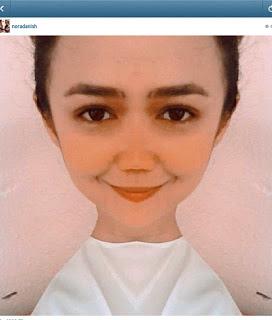 Nora danish Tanpa Makeup