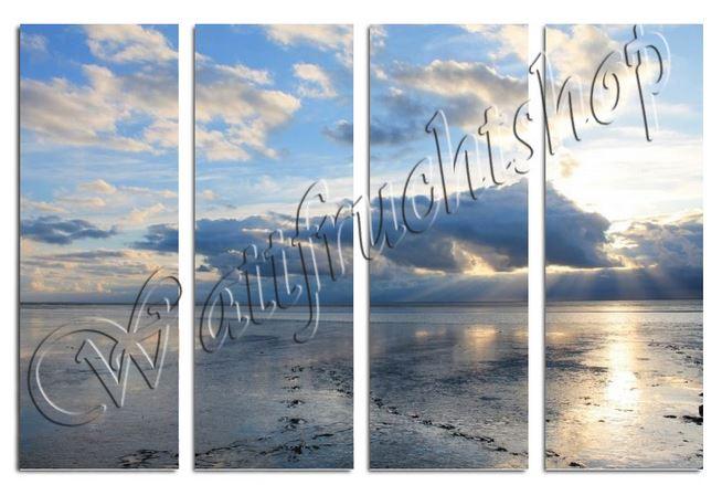 Wolken und Watt in Norddeich