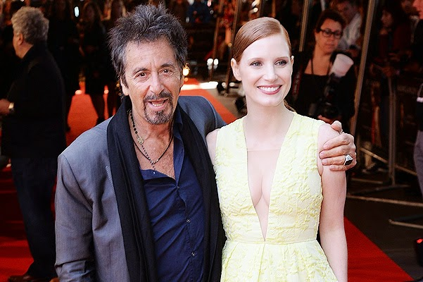 Al Pacino and Jessica Chastain at the premiere in London