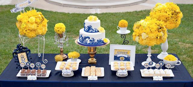 decoracao casamento azul marinho e amarelo : decoracao casamento azul marinho e amarelo:Eventos de Papel: Cores para Casamento: Azul Marinho + Amarelo