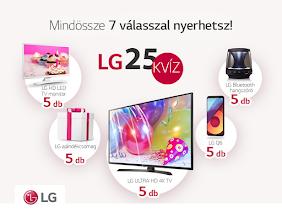 Nyerd meg az 5x5 db értékes LG ajándék egyikét!