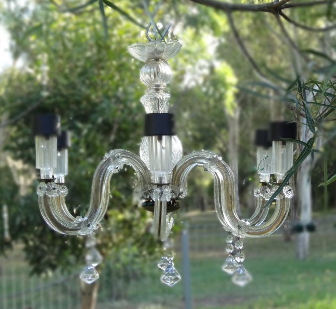 krafty panda diy solar light chandelier