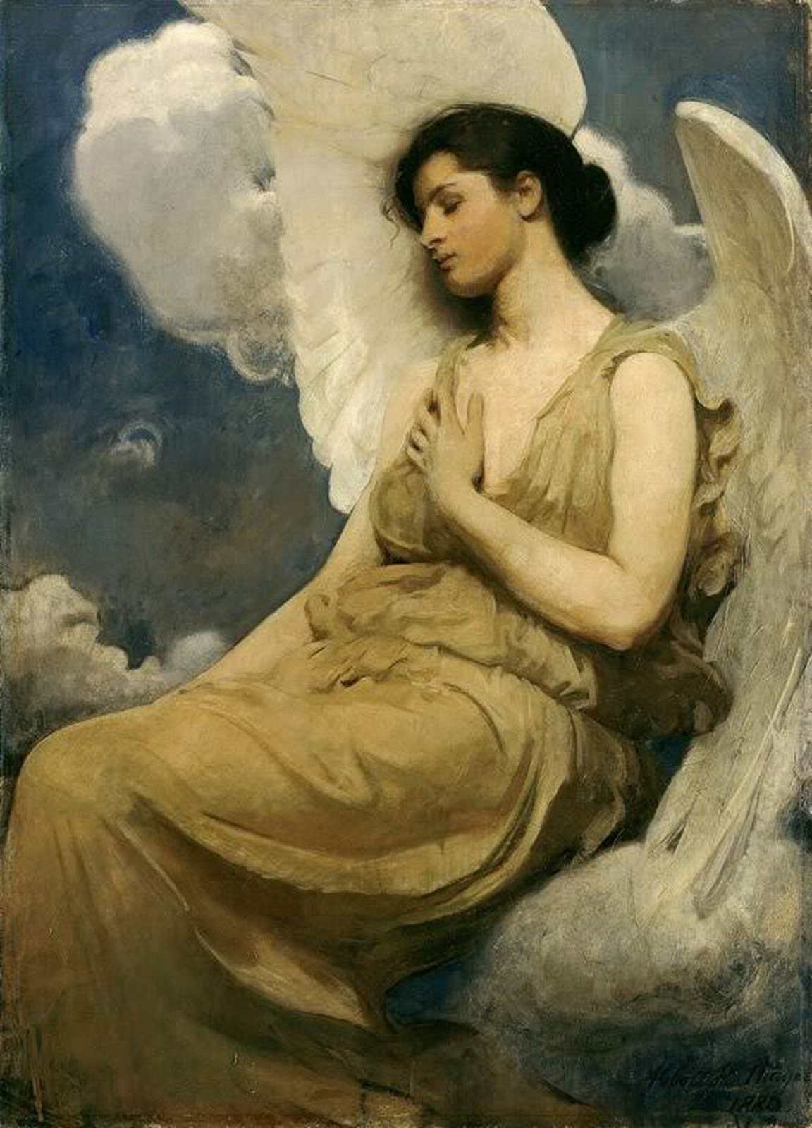 Winged Figure   1889  Oil  Art Institute of Chicago  Famous Angel Paintings Raphael