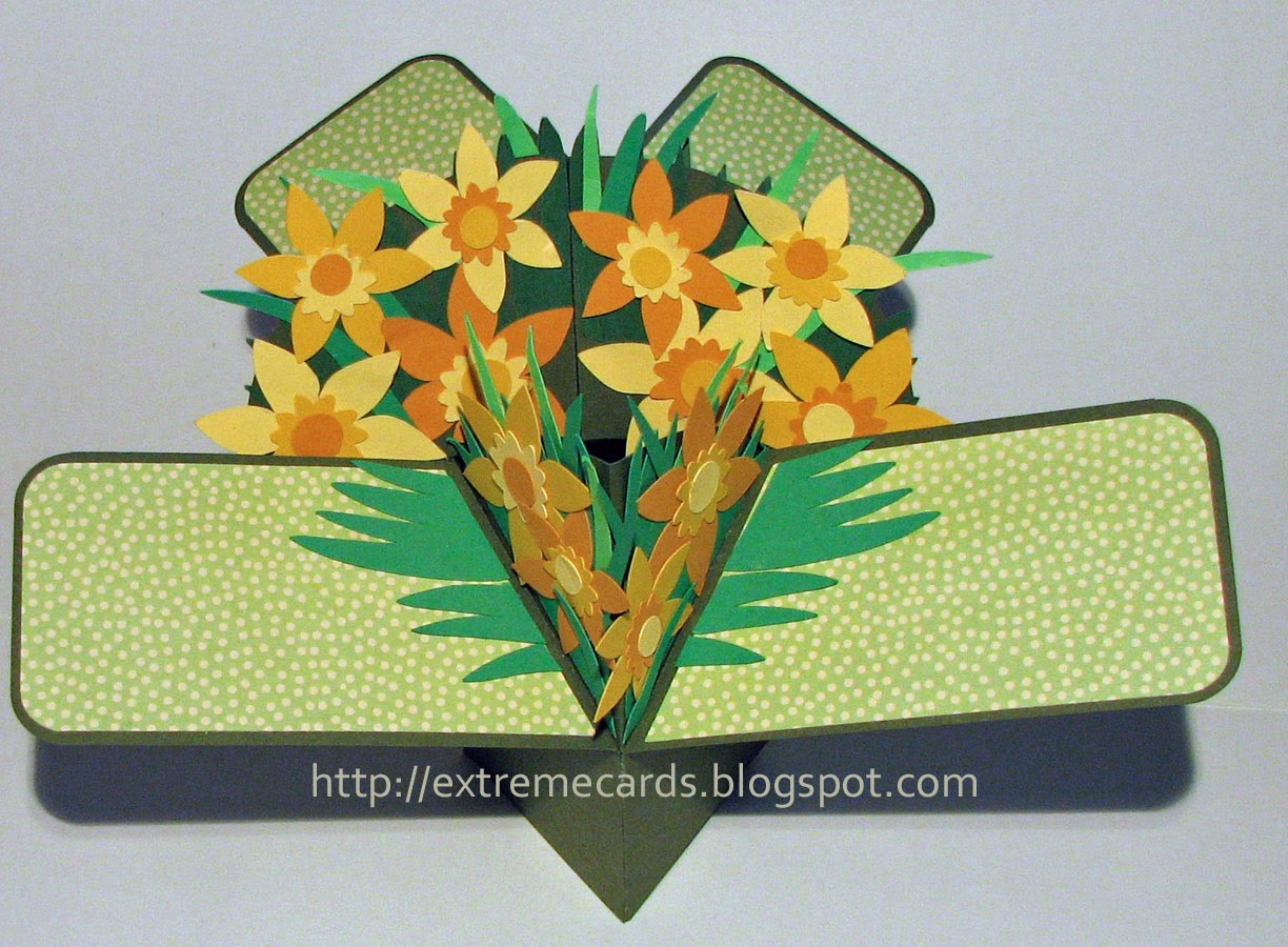 3d pop up card daffodils
