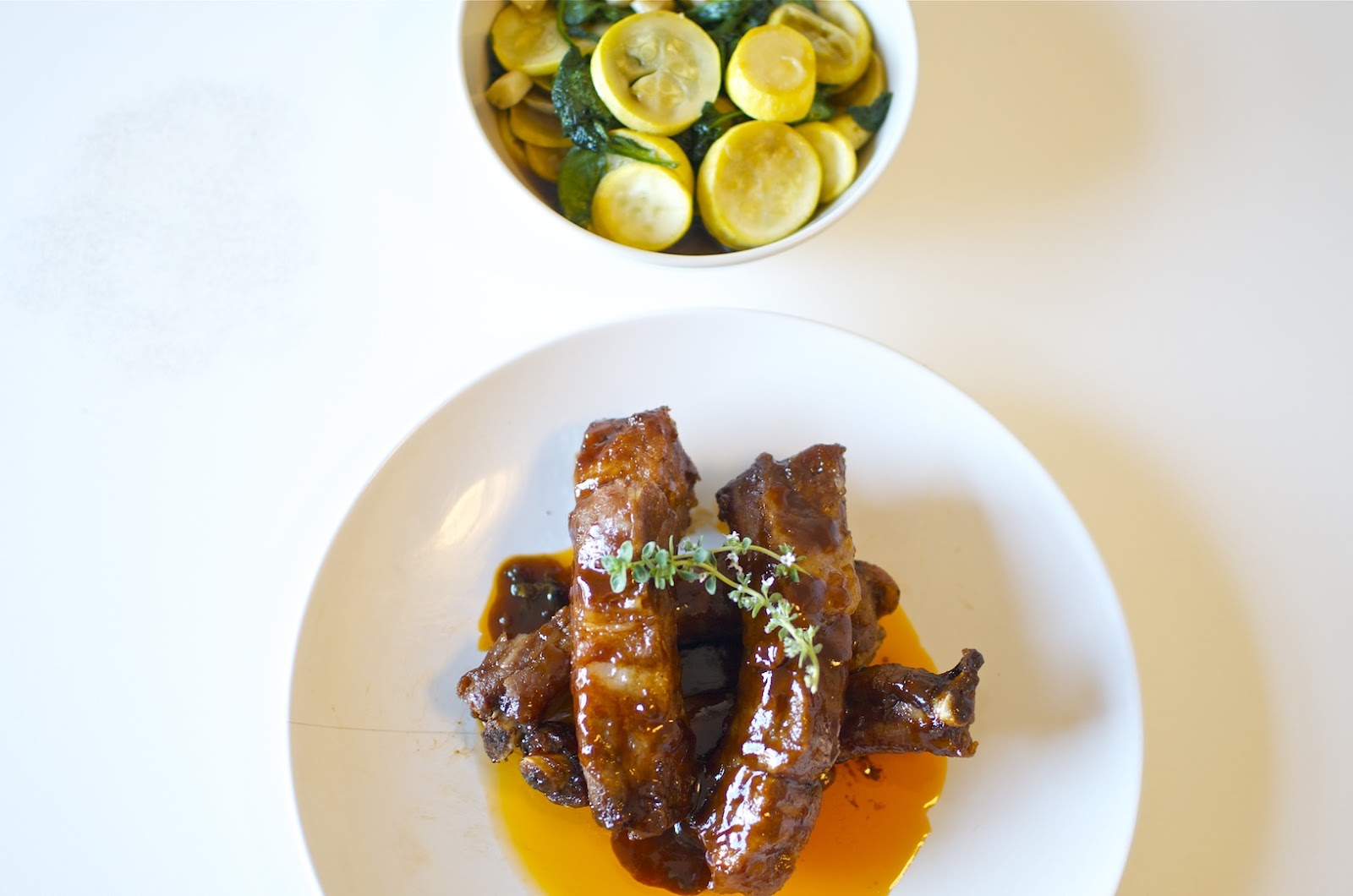 barbecue sauce recipes dishmaps ribs with spicy bourbon barbecue sauce ...