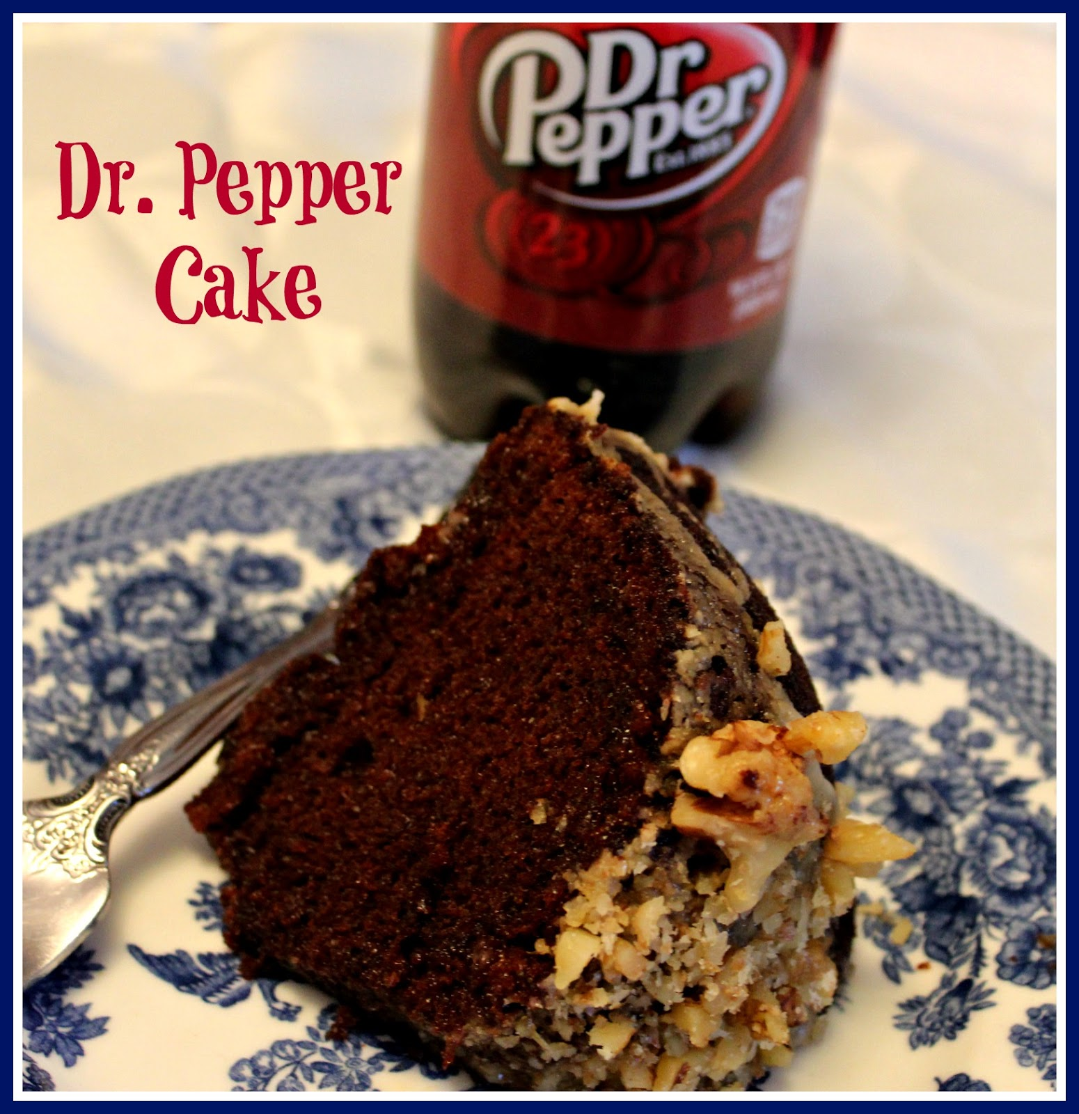 Diet Dr Pepper Cake Mix