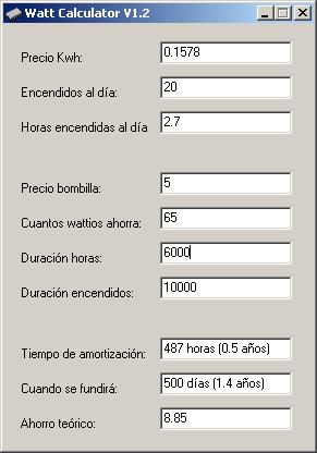 Bombillas de bajo consumo ahorro o timo calculadora de for Calculadora ahorro