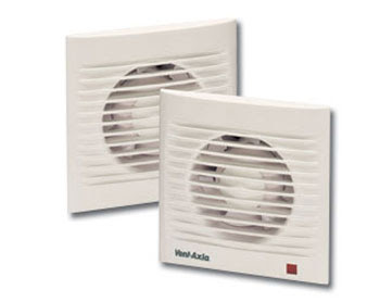 The Vent-Axia Silhouette S100T Extractor Fan with integrated Timer