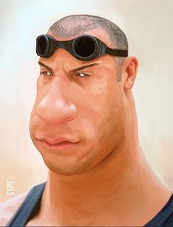 Gambar Karikatur Van Diesel Fast Furious Artis Hollywood
