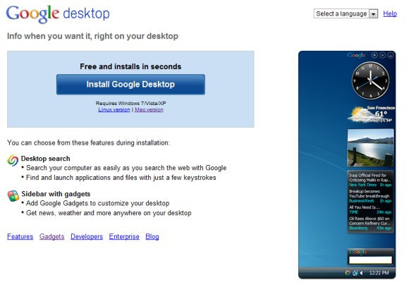 Google Desktop Will Be Discontinued