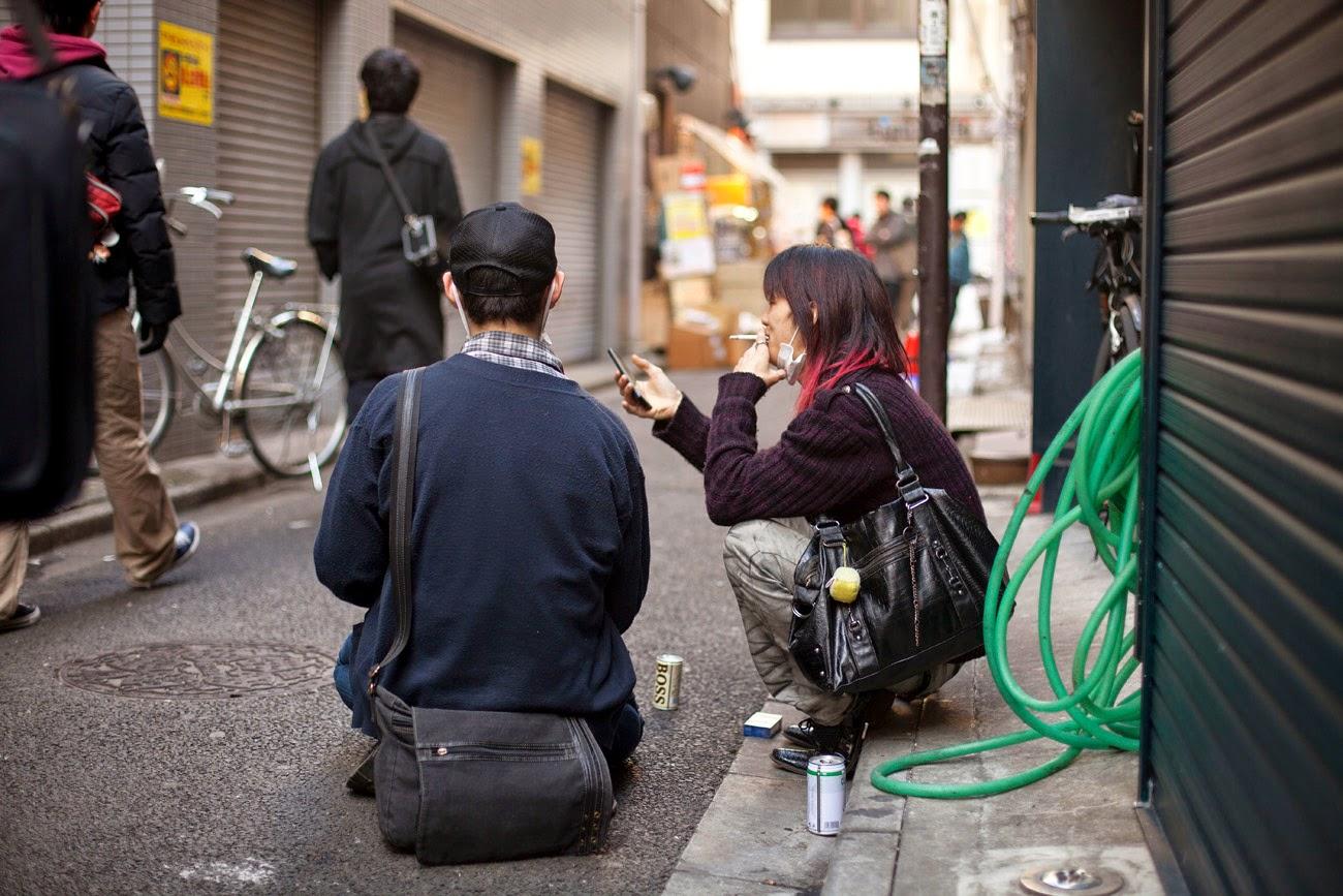 Otakus en Akihabara