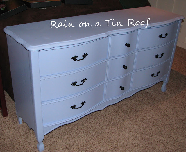 Armoire & Dresser Makeover {rainonatinroof.com} #makeover #DIY