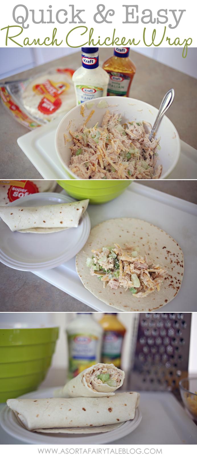 A sorta fairytale easy ranch chicken wrap recipe for Easy ranch