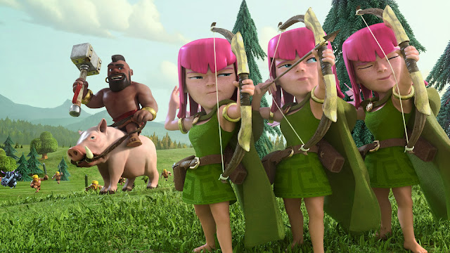 11003-Archers and Hog Rider Clash of Clans HD Wallpaperz