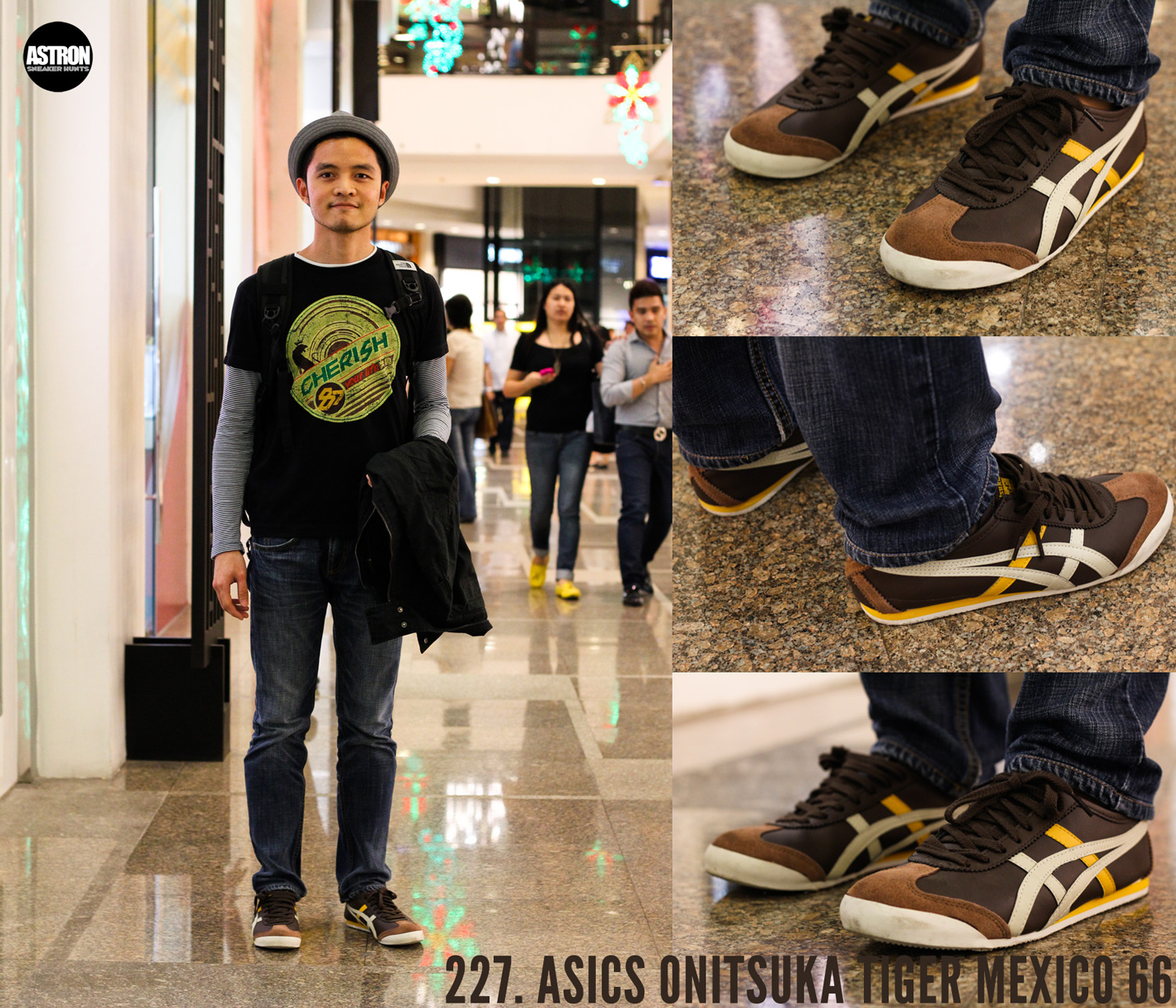 wearing asics onitsuka tiger