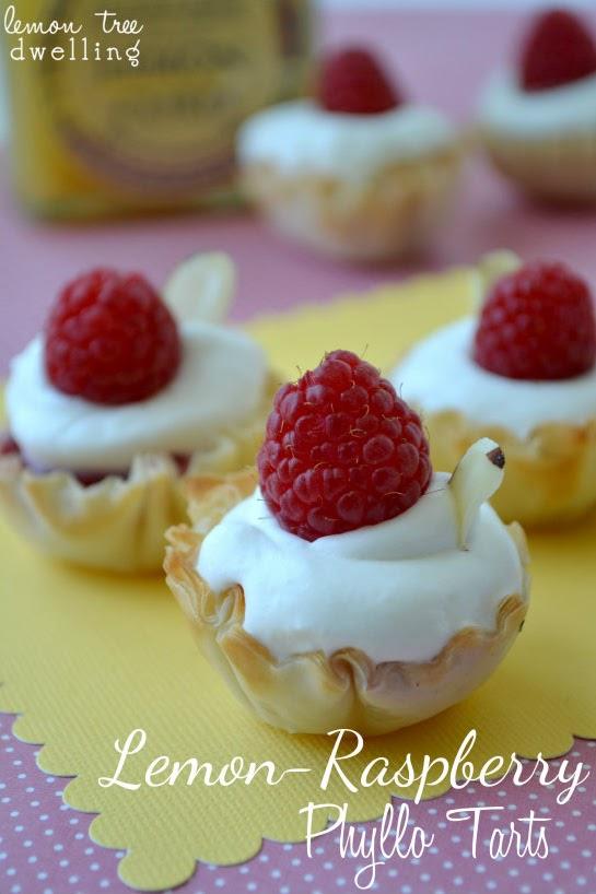 Lemon Tart With Raspberries Recipe — Dishmaps