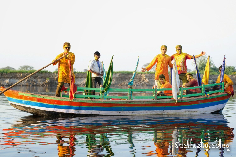 Holi at Keshi ghat Vrindavan