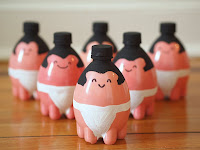 Sumo Wrestler Plastic Bottle Bowling Pins