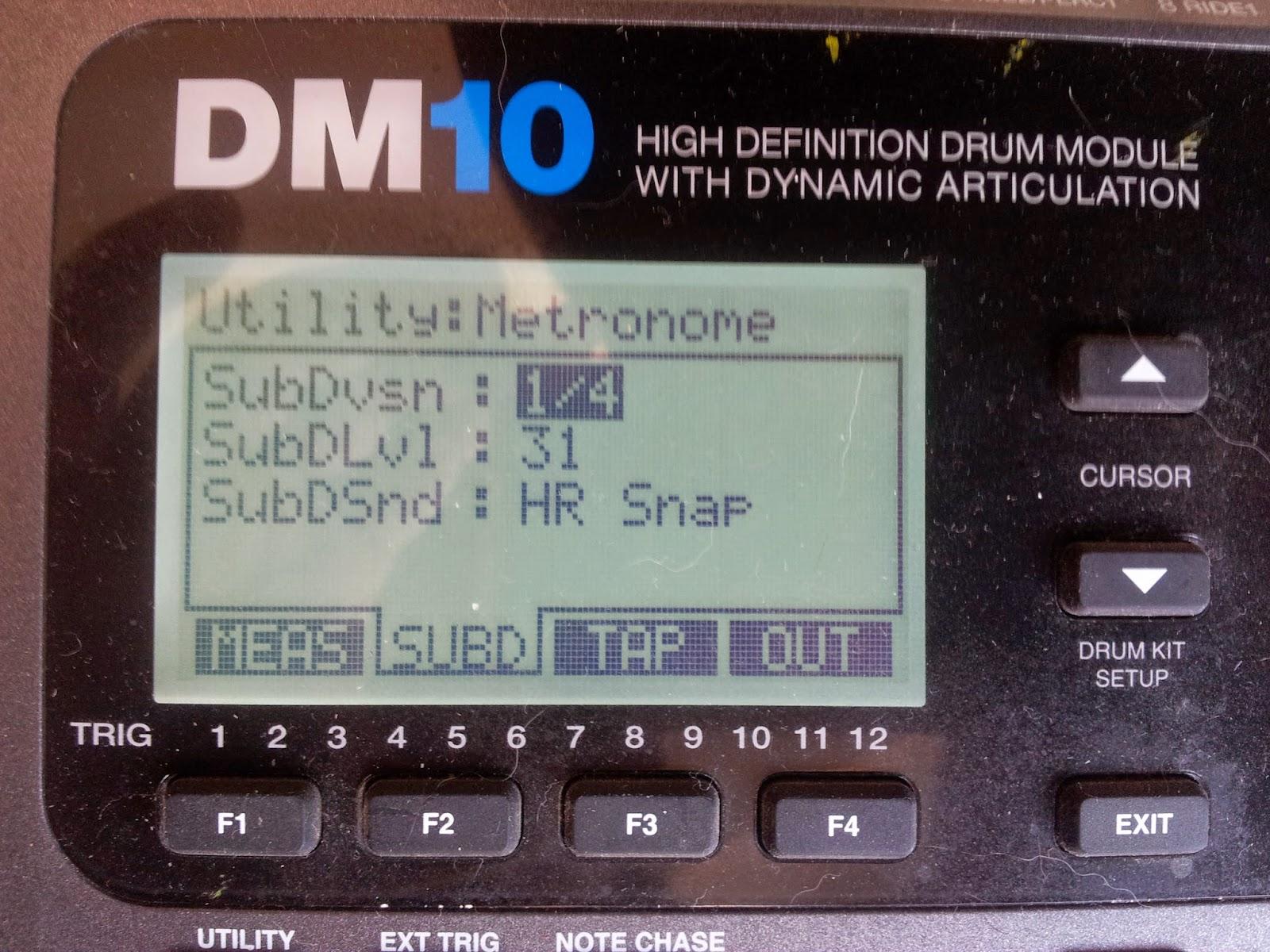 pantalla metrónomo marcando subdivisión de negras