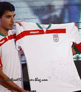 Le maillot de l'Iran de la Coupe du monde 2014