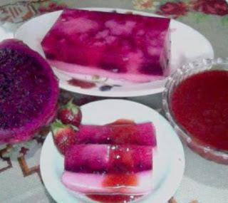 bahan 1 4 bh buah naga merah potong potong tipis 200 gr buah ...