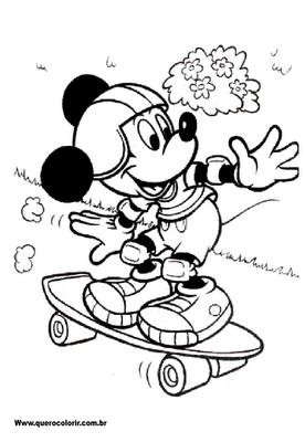 DESENHOS PARA PINTAR Mickey Mouse