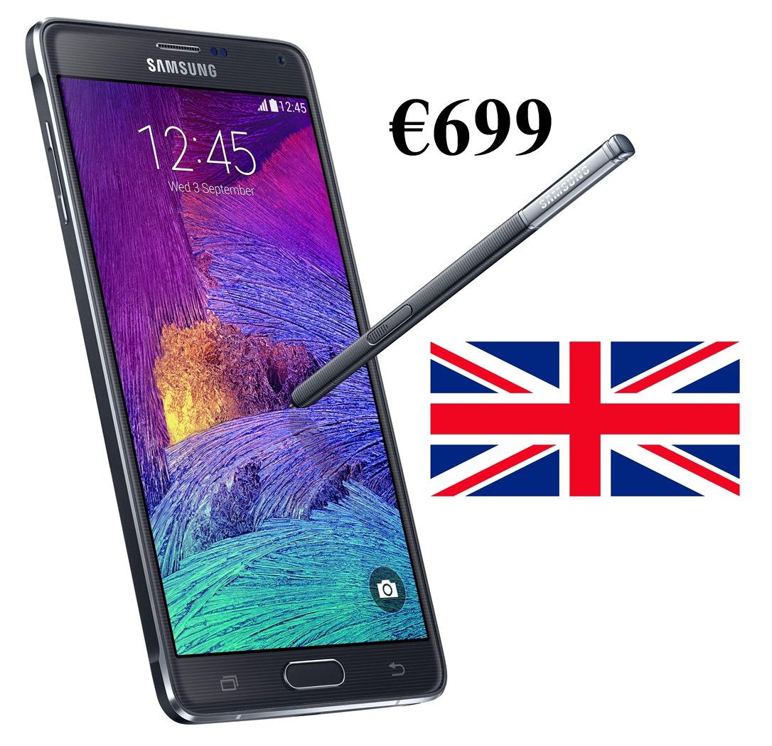 SIM Free Galaxy Note 4 Price in UK