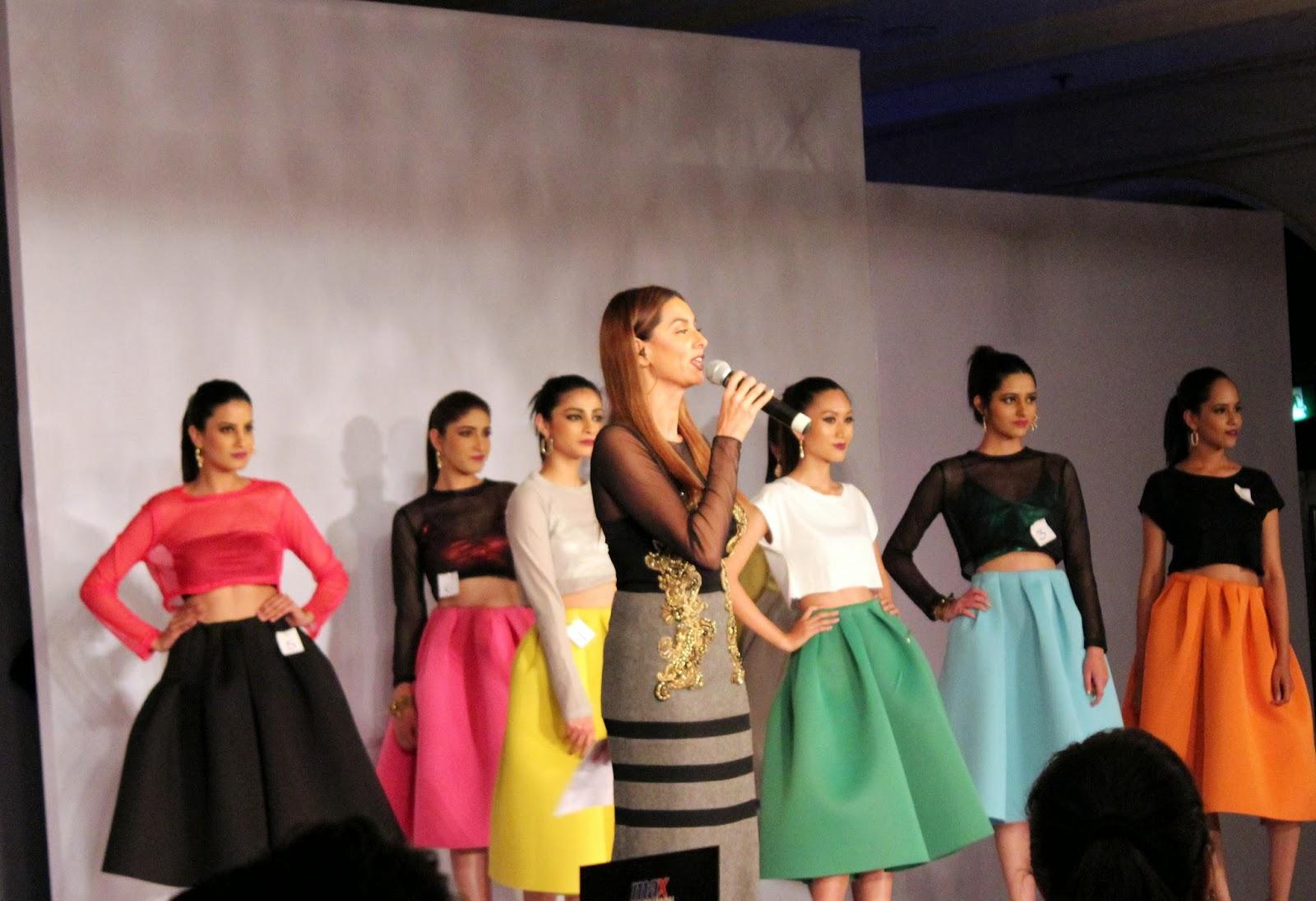 Shibani Dandekar - MAX Fashion Icon 2014 In Collaboration  With Cosmopolitan Magazine Grand Finale - All Pictures, Uncut Version