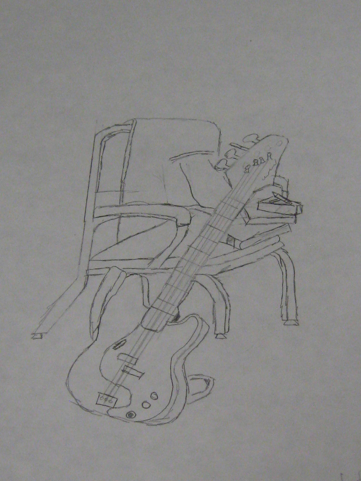 Make it Artwork Guitar and Chair