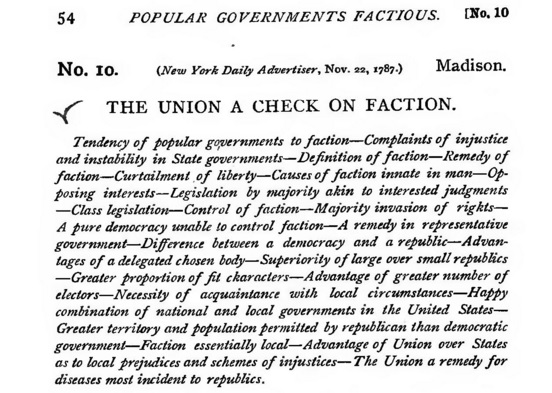 an analysis of the federalist papers by madison A summary of federalist essays no10 - no17 in the founding fathers's the federalist papers (1787-1789) learn exactly what happened in this chapter, scene, or section of the federalist papers (1787-1789) and what it means perfect for acing essays, tests, and quizzes, as well as for writing lesson plans.