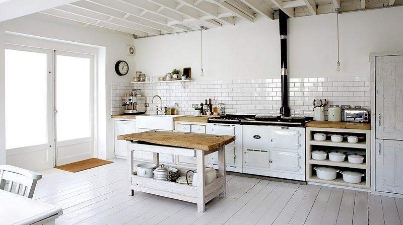 Desigrans Interior Style Kitchen Rustic White Country Style Interior