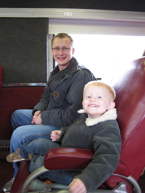 Daddy & Porter Seated on a Train