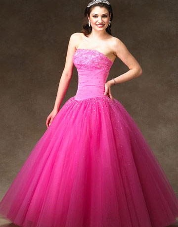 pink wedding dresses gallery