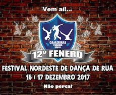 VEM AÍ! 12º FERNERD - FESTIVAL NORDESTINO DE DANÇA DE RUA. DIAS 16 E 17/12