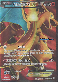 Charizard EX Full Art Flashfire Pokemon Card
