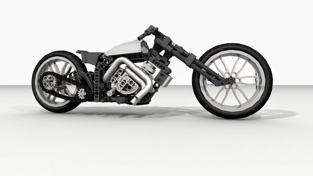 Lego Technic Motorcycles Diagonal Chopper By Frantiek Hajdekr