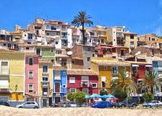Detalle de Villajoyosa, en Alicante