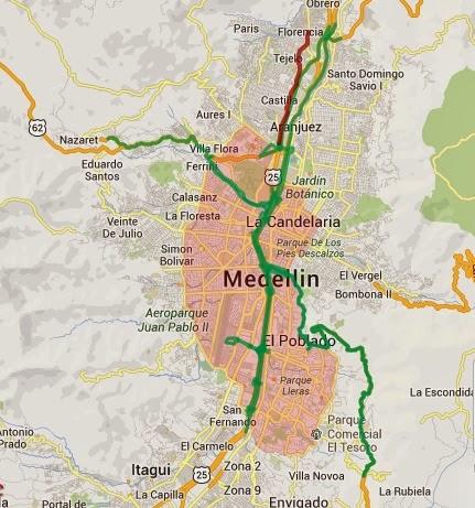 A continuación las vías exentas de pico y placa Medellin