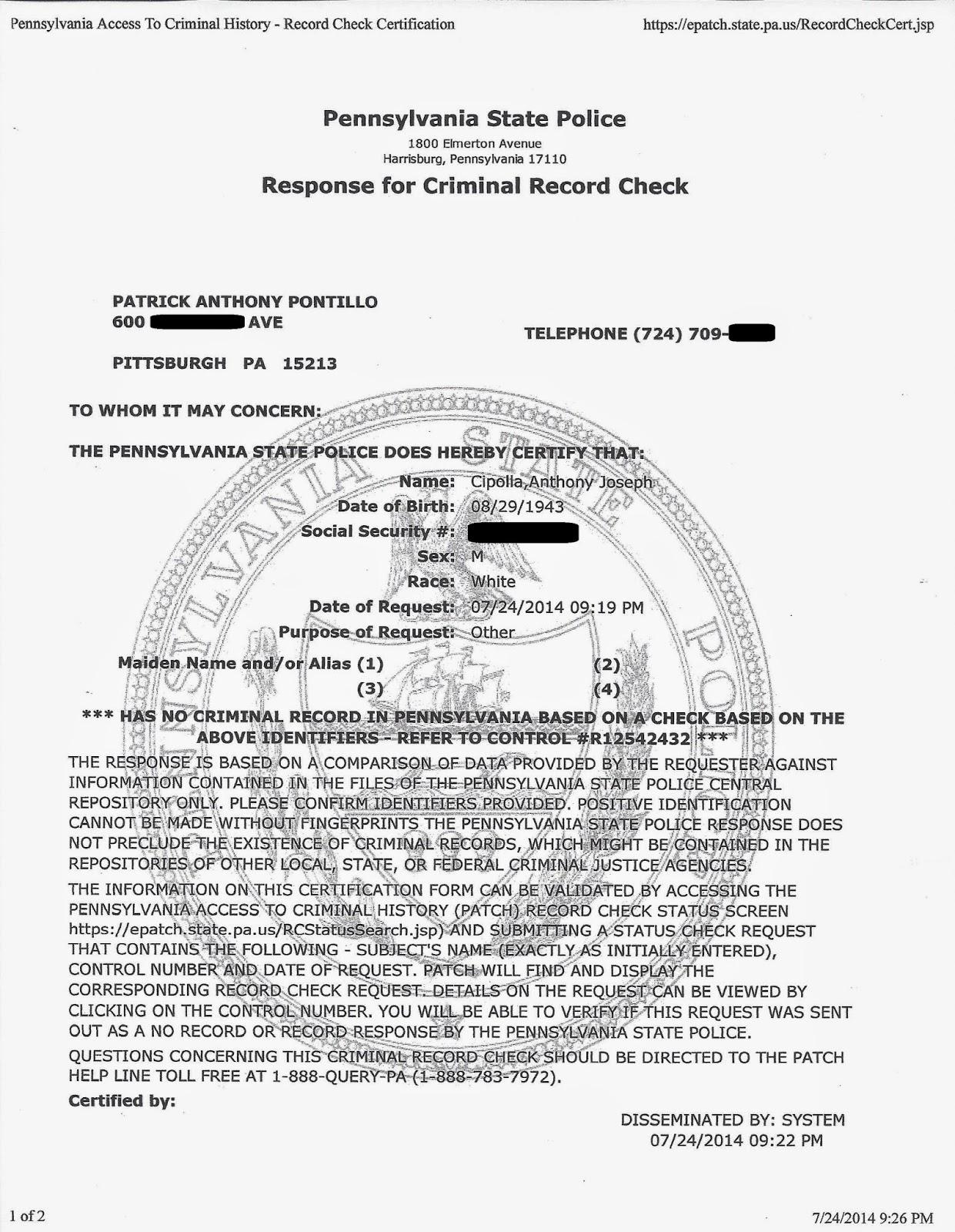 Individual Search - State of Colorado Criminal History Check