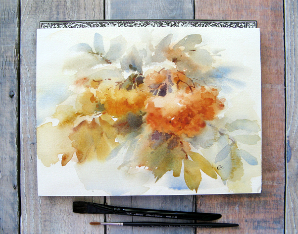 Watercolors by maria stezhko wet for Video tutorial on watercolor painting