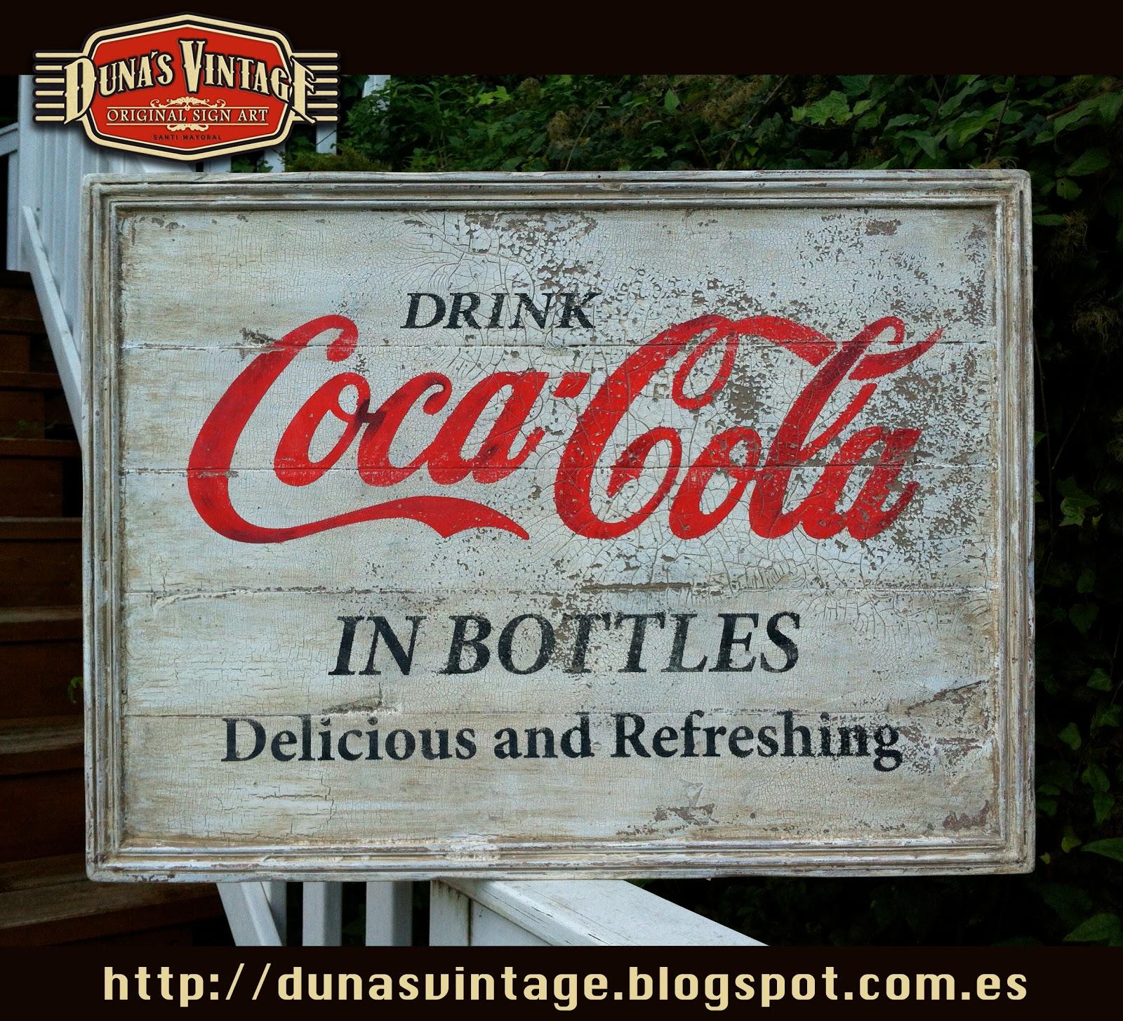 duna s vintage coca cola sign duna s vintage 300. Black Bedroom Furniture Sets. Home Design Ideas