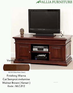 Contoh Furniture Semprot Melamine Walnut Brown