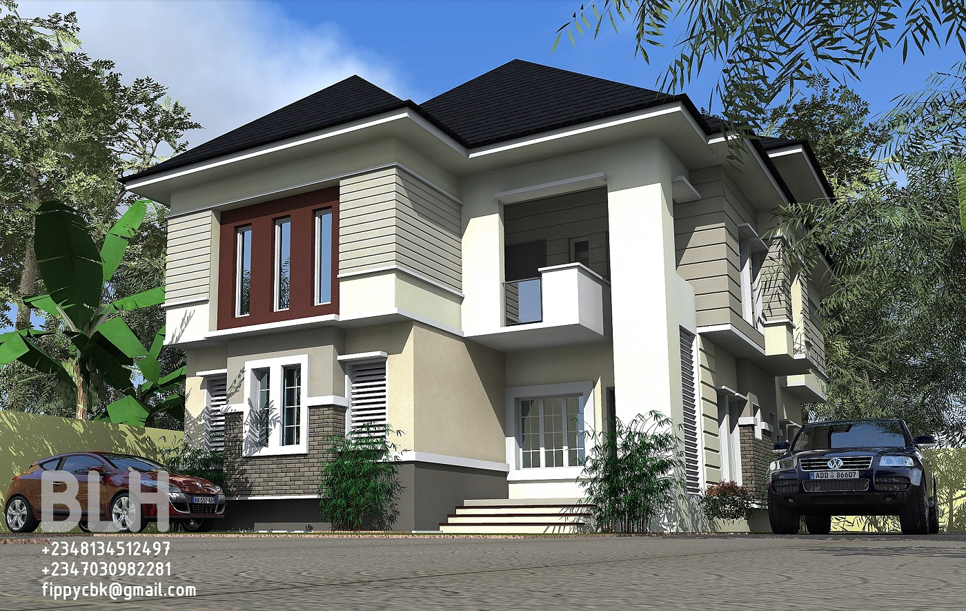 Architectural designs by blacklakehouse 4 bedroom duplex for Duplex architectural designs